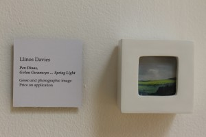 Pen Dinas, Golau Gwanwyn ... Spring Light  - gesso, wood, glass and photographic image - approx. 75 mm x 75 mm